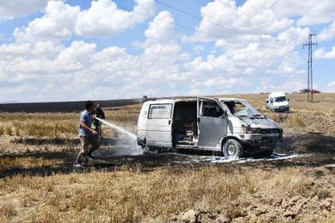 Ömeranlı Mahallesinde Buğday Tarlasında Yangın