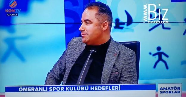 Ömeranlı Spor Kon tv'nin canli yayina katildiar