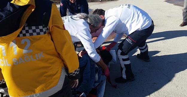 Kulu'da kalp krizi geçiren hastaya hava ambulansı