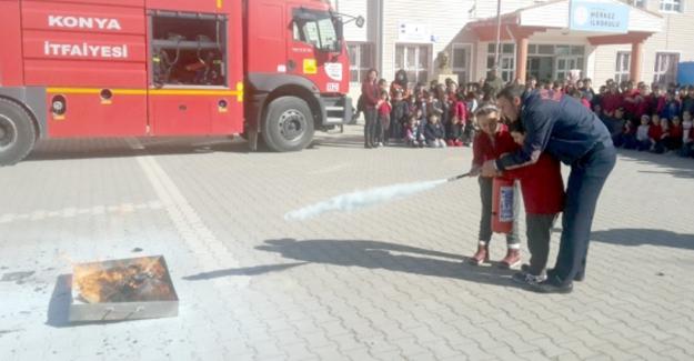 Kulu'da deprem ve yangın tatbikatı yapıldı