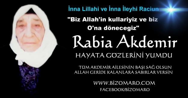 Rabia Akdemir  vefat etmiştir