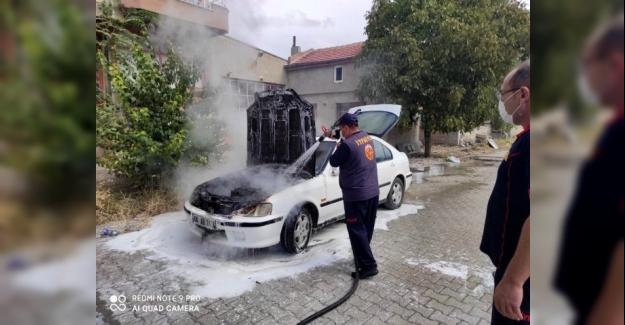 Kulu'da Park halindeki otomobilde yangın