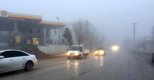 Kulu'da trafiğe sis engeli