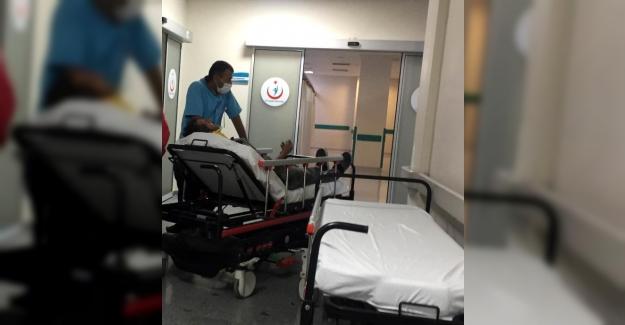 Kulu'da Selektör makinesinden düşerek yaralandı