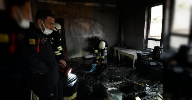Yaraşlı Mahallesinde ev yangını kısa sürede söndürüldü