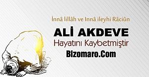 Ali Akdeve hayatini kaybetti