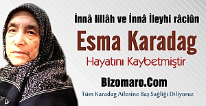 Esma Karadag vefat etmiştir