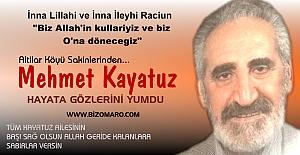 Mehmet Kayatuz vefat etmiştir