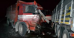 Karacadağ ve Kozanlı arasında kamyonla tır çarpıştı: 1 ölü, 1 yaralı