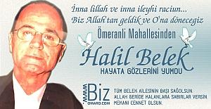 Halil Belek  Vefat etmiştir