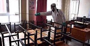 Kulu'da okul ve camiler dezenfekte edildi