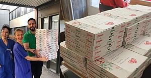 Yusuf Ziya Aşcı İsveç'te sağlık çalışanlarına pizza ikram etti