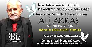 Ali Akkaş vefat etmiştir