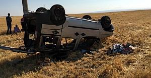 Kulu'da  işçileri taşıyan hafif ticari araç takla attı: 4 yaralı
