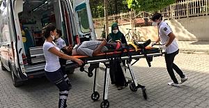 Kulu'da otomobilin çarptığı yaya hastaneye kaldırıldı
