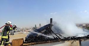 Kulu'da Müstakil evde çıkan yangında kullanılamaz hale geldi