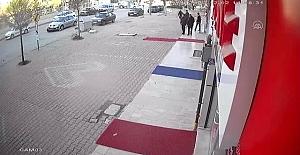 Kulu'da Kaza anı güvenlik kamerasına yansıdı