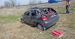 Kulu'da Takla atan otomobildeki Derin öldü; 3 yaralı