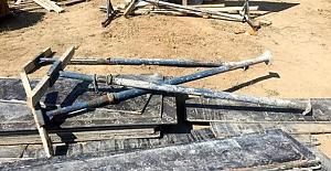 Kulu'da inşaattan demir hırsızlığı