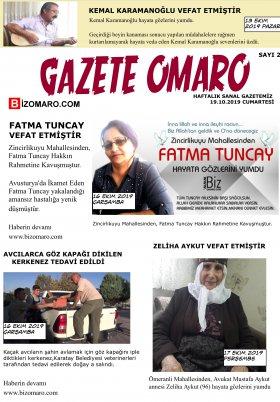 Bizomaro.com - 19.10.2019 Manşeti