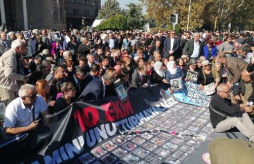 Ankara Garı Önünde 10 Ekim Katliamı Anması