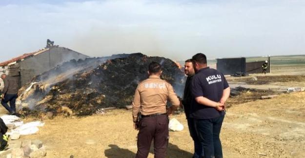 Kulu'da 3 bin 500 balya saman yandı