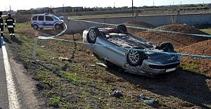 Kulu'da otomobil şarampole takla attı: 1 ölü