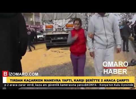 Kulu'da kaza Tırdan Kaçarken Manevra Yaptı, Karşı Şeritte 2 Araca Çarptı